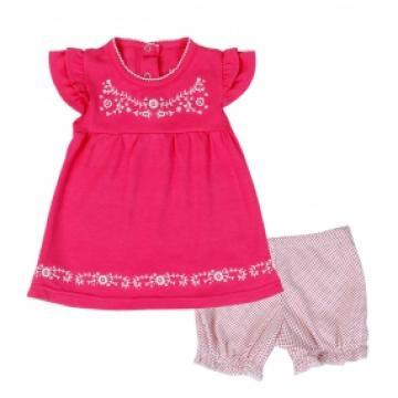 Bộ cotton tay dài in chú heo hồng Kiza bé gái 3