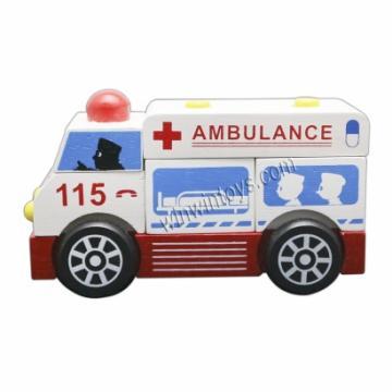 Lắp ráp xe cứu thương-6930C-đồ chơi gỗ